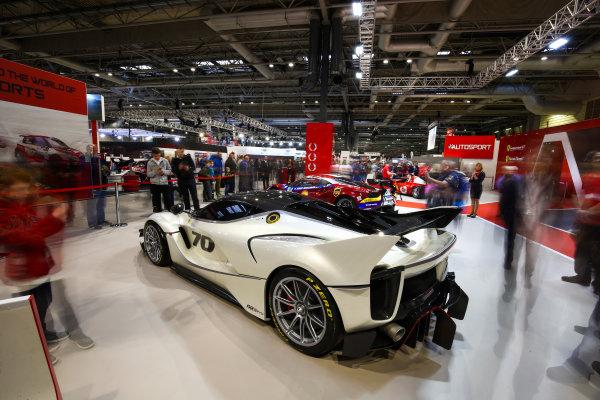 Autosport International Exhibition. National Exhibition Centre, Birmingham, UK. Sunday 14th January 2018. The Ferrari stand.World Copyright: Mike Hoyer/JEP/LAT Images Ref: AQ2Y9713