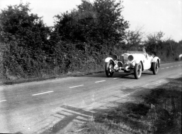 Le Mans, France. 21st - 22nd June 1930. Rudolf Caracciola/Christian Werner (Mercedes-Benz SS), retired, action. World Copyright: LAT Photographic.