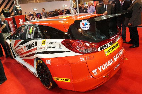Team Dynamics Honda Civic BTCC car. Autosport International Show, NEC, Birmingham, England, Day One, 9 January 2014.