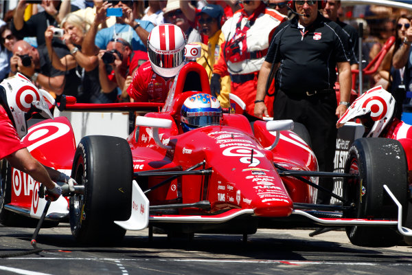 23 May, 2014, Indianapolis, Indiana, USA Scott Dixon wins the TAG Heuer Pit Stop Challenge ©2014, Phillip Abbott LAT Photo USA