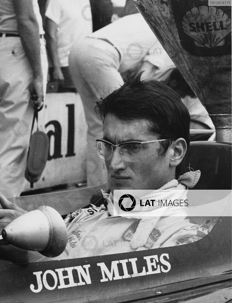 Hockenheim, Germany. 31st July - 2nd August 1970.John Miles (Lotus 72-Ford), retired, portrait.World Copyright: LAT Photographic.Ref:  1324 - 26A.