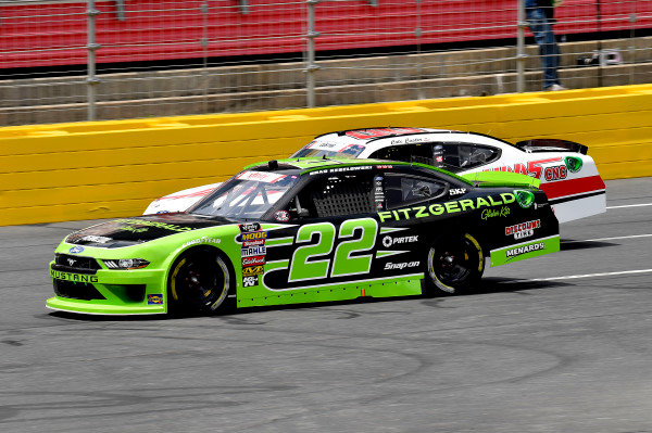 #22: Brad Keselowski, Team Penske, Ford Mustang Fitzgerald Glider Kits and #00: Cole Custer, Stewart-Haas Racing, Ford Mustang Haas Automation/