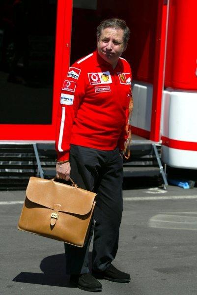 Jean Todt (FRA) Ferrari General Manager in the paddock.Formula One World Championship, Rd9, European Grand Prix, Preparations, Nurburgring, Germany, 26 June 2003.DIGITAL IMAGE
