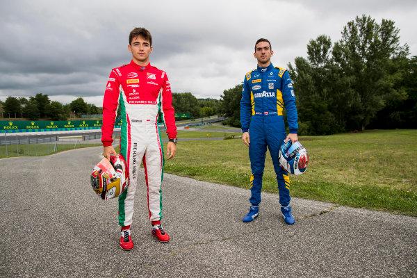 2017 FIA Formula 2 Round 7. Hungaroring, Budapest, Hungary. Thursday 27 July 2017. Charles Leclerc (MCO, PREMA Racing) and Nicholas Latifi (CAN, DAMS).  Photo: Zak Mauger/FIA Formula 2. ref: Digital Image _56I0155