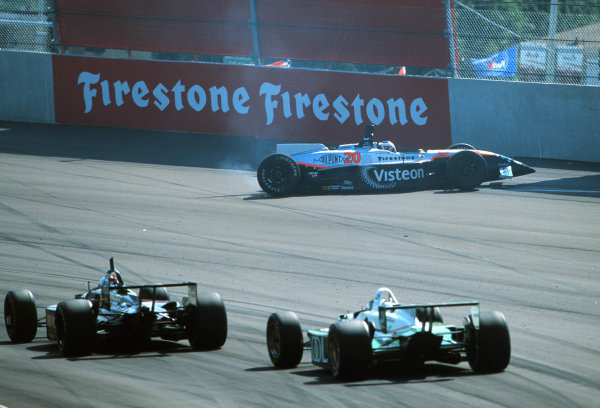 1999 CART Chicago GP, 22/8/99Magnussen hits the wall-1999, Phil Abbott, USALAT PHOTOGRAPHIC