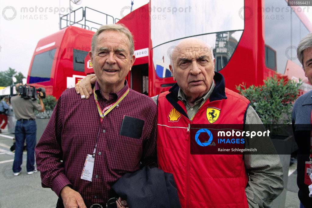Phil Hill and José Froilán González, both former Ferrari drivers.
