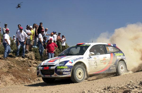 2001 World Rally Championship.Acropolis Rally June 14-17, 2001.Carlos Sainz on stage 7.Photo: Ralph Hardwick/LAT