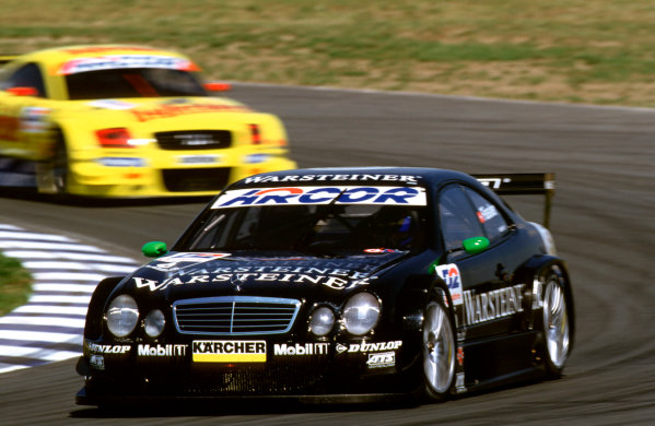 2001 DTM ChampionshipOscersleben, Germany. 19th - 20th May 2001.Race winner, Marcel Fassler, AMG Mercedes-Benz CLK - action.World Copyright: Peter Spinney/LAT Photographicref: 35mm Image A07