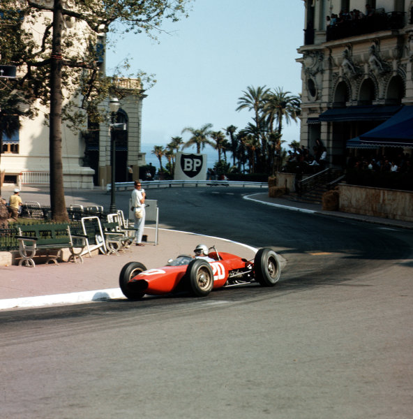 Monte Carlo, Monaco.23-26 May 1963.Willy Mairesse (Ferrari Dino 156).Ref-3/0919.World Copyright - LAT Photographic