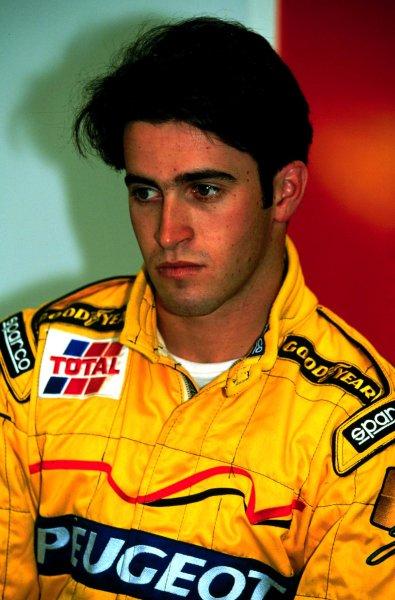 1997 Formula 1 testing, Silverstone, Great Britain.14 August 1997.Ricardo Zonta (Jordan-Peugeot test driver).World - LAT Photographic