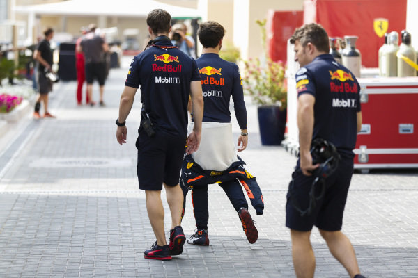 Pierre Gasly, Red Bull Racing, in the paddock.
