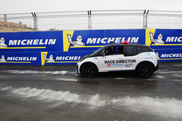Race Director Scot Elkins in the BMW i3