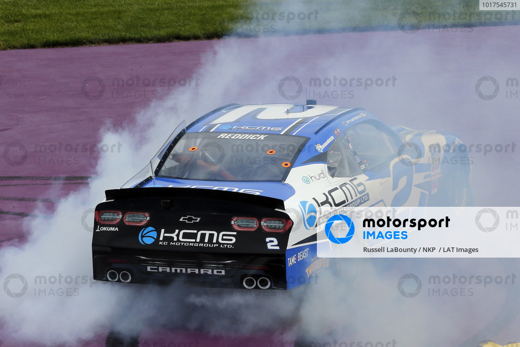 #2: Tyler Reddick, Richard Childress Racing, Chevrolet Camaro KC Motorgroup celebrates his win with a burnout