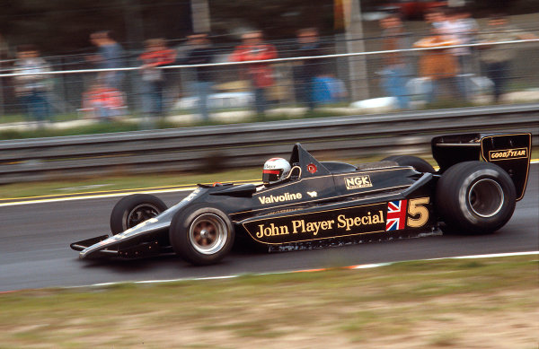1978 Belgian Grand Prix.Zolder, Belgium.19-21 May 1978.Mario Andretti (Lotus 79 Ford) 1st position. The car won in its maiden Grand Prix.Ref-78 BEL 01.World Copyright - LAT Photographic