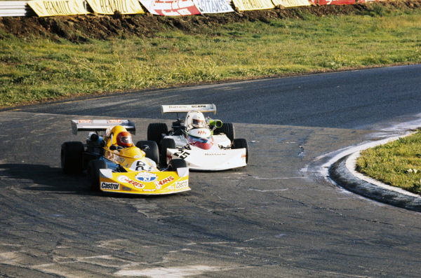 """""""Gimax"""" (Carlo Franchi), March 742 BMW, battles with Sandro Cinotti, March 752 BMW."""
