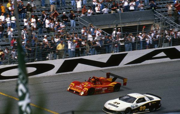 Race Winners Gianpiero Moretti (ITA) / Arie Luyendyk (NED) / Mauro Baldi (ITA) / Didier Theys (BEL)  IMSA GTP Championship, Rd1, Daytona 24 Hours, Daytona Beach, Florida, USA. 1 February 1998. BEST IMAGE