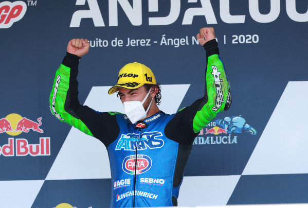 Race winner Enea Bastianini, Italtrans Racing Team.