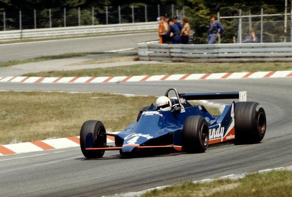 1979 German Grand Prix.Hockenheim, Germany.27-29 July 1979.Geoff Lees (Tyrrell 009 Ford) 7th position. Ref-79 GER 19.World Copyright - LAT Photographic