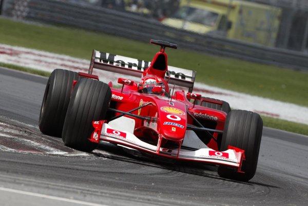 2002 Canadian Grand Prix - RaceMontreal, Canada. 9th June 2002Michael Schumacher (Ferrari F2002).World Copyright: Steve Etherington/LATref: Digital Image Only