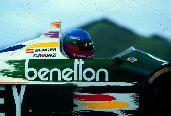 1986 Brazilian Grand Prix.Jacarepagua, Rio de Janeiro, Brazil.21-23 March 1986.Gerhard Berger (Benetton B186 BMW) 6th position.World Copyright - LAT Photographic