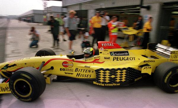 1997 British Grand Prix.Silverstone, England.11-13 July 1997.Ralf Schumacher (Jordan 197 Peugeot) 5th position.World Copyright - LAT Photographic