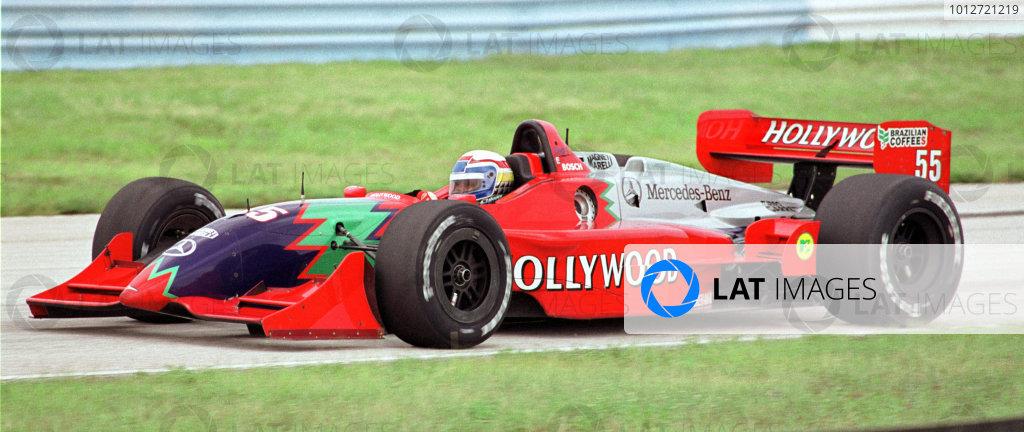 2000 ZANARDI CART TEST SEBRING, Sebring, FL USA. 08 July 2000. --Alex Zanardi eases the wheel of Mo Nunn's Hollywood Champ car through a turn at Florida's Sebring International Raceway, Saturday. -2000 Mark Elias, USALAT PHOTOGRAPHIC