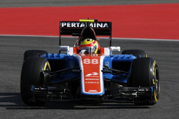 Rio Haryanto (IDN) Manor Racing MRT05 at Formula One World Championship, Rd12, German Grand Prix, Practice, Hockenheim, Germany, Friday 29 July 2016.