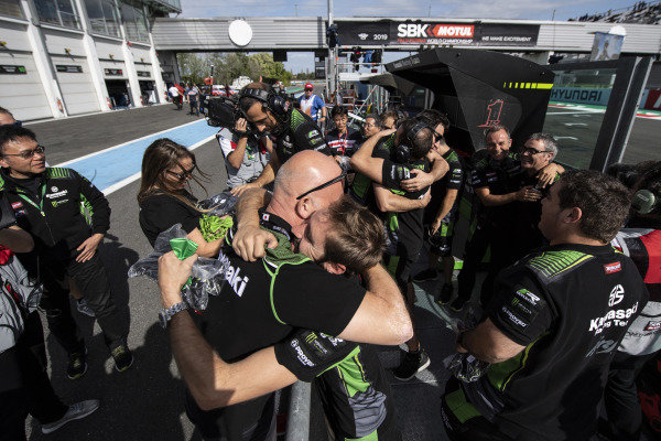 Kawasaki celebrate Jonathan Rea, Kawasaki Racing Team winning his 5th world title.