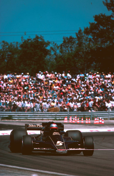 1977 French Grand Prix.Dijon-Prenois, France.1-3 July 1977.Mario Andretti (Lotus 78 Ford) 1st position.Ref-77 FRA 18.World Copyright - LAT Photographic