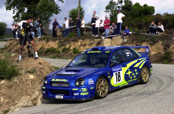 2001 World Rally Championship.Rallye de France, Ajaccio, Corsica, October 19-21.Markko Martin on stage 13.Photo: Ralph Hardwick/LAT