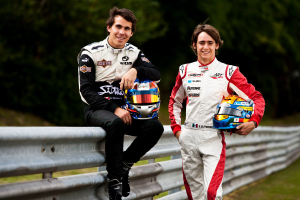 Round 6.Hungaroring, Budapest, Hungary. 29th July 2010. Thursday Preview.Robert Wickens, (CAN, Status Grand Prix) and Esteban Gutierrez, (MEX, ART Grand Prix) winners of races 9 and 10 in the GP3 series at Hockenheim. Portrait. World Copyright: Drew Gibson/GP3 Media Service. Digital Image _Y2Z0928