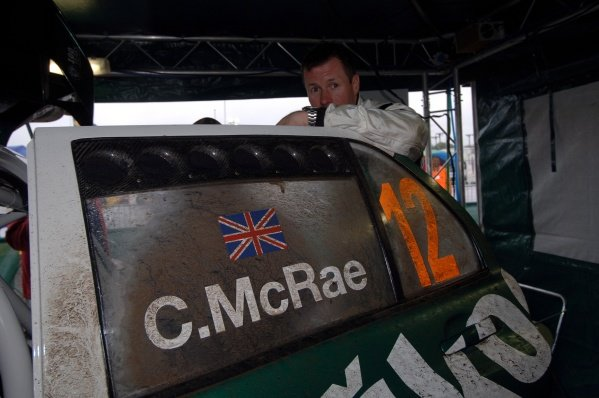 2005 FIA World Rally Championship,  Wales Rally GB, September 15-18, 2005. Cardiff, Wales. Shakedown. Colin McRae (GRB) at shakedown service. Digital Image
