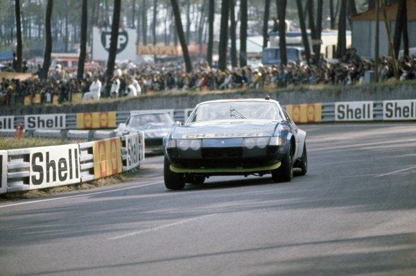 1972 Le Mans 24 hours.Le Mans, France. 10-11 June 1972.Francois Migault/Daniel Rouveyran (Ferrari 365GTB4), retired.World Copyright: LAT PhotographicRef: 35mm transparency 72LM11