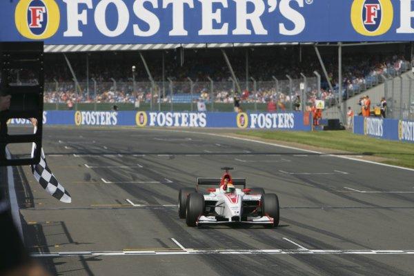 2006 GP2 Series.Round 6.  Silverstone, England.  11th June 2006.  Sunday race.  Lewis Hamilton (GBR, ART Grand Prix) wins the race. Action.  World Copyright: Andrew Ferraro/GP2 Series Media Service. Ref: Digital Image Only.YY8P4334.jpg