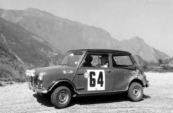 1966 Alpine RallyTony Fall/Mike Wood (Mini Cooper S), action.World Copyright: LAT Photographic