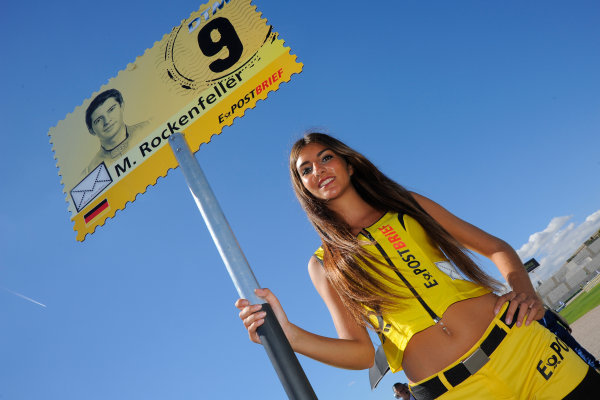 Round 9 - Valencia, Spain28th - 30th September 2012grid girlWorld Copyright:  XPB Images / LAT Photographicref: Digital Image 2375537_HiRes