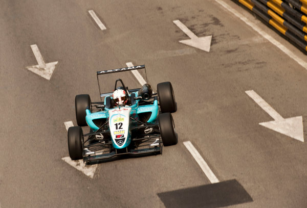 Formula Three. 16th - 19th November 2011. Circuit de Guia, Macau. Daniel Juncadella, Prema Powerteam. Action. World Copyright: Drew Gibson/LAT Photographic. ref: Digital Image _Y2Z6289