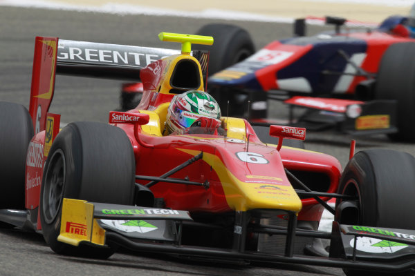 Bahrain International Circuit, Sakhir, Bahrain. 22nd April. Sunday Race.Nathanael Berthon ( FRA, Racing Engineering). Action.  World Copyright: Andrew Ferraro/GP2 Media Service. Ref: Digital Image _Q0C8469.jpg