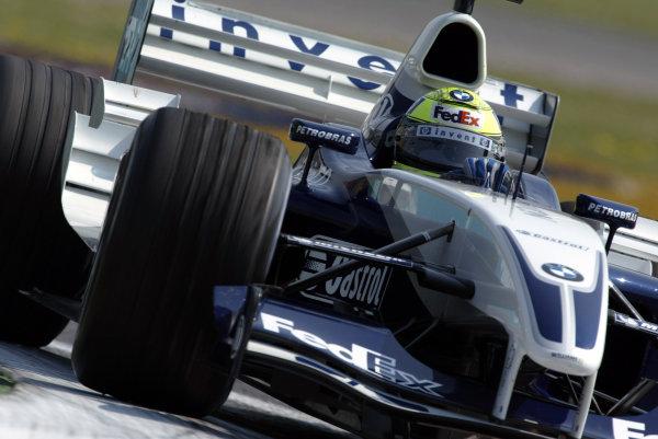 2003 San Marino Grand Prix - Friday 1st QualifyingImola, Italy. 18th April 2003Ralf Schumacher, BMW Williams FW25, action.World Copyright: Steve Etherington/LAT Photographic ref: Digital Image Only