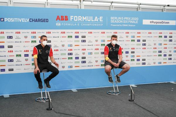 Sébastien Buemi (CHE), Nissan e.Dams and Oliver Rowland (GBR), Nissan e.Dams in the press conference