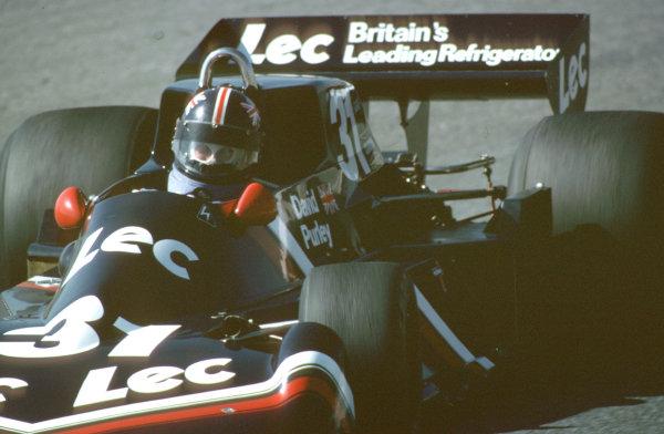 1977 Spanish Grand Prix.Jarama, Madrid, Spain.6-8 May 1977.David Purley (LEC CRP1 Ford). World Copyright - LAT Photographic