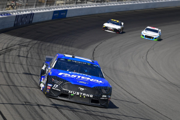 #17: Ricky Stenhouse Jr., Roush Fenway Racing, Ford Mustang Fastenal, #95: Matt DiBenedetto, Leavine Family Racing, Toyota Camry Toyota Express Maintenance, #43: Darrell Wallace Jr., Richard Petty Motorsports, Chevrolet Camaro Victory Junction