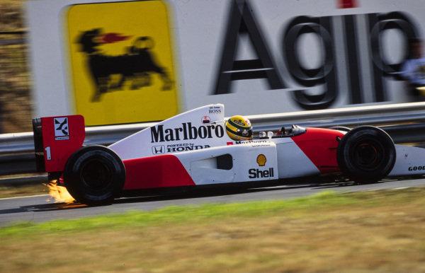 Ayrton Senna, McLaren MP4-7A Honda.