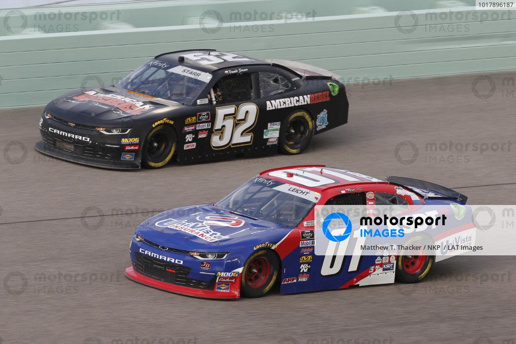 #01: Stephen Leicht, JD Motorsports, Chevrolet Camaro KSDT / Univista Insurance #52: David Starr, Means Motorsports, Chevrolet Camaro