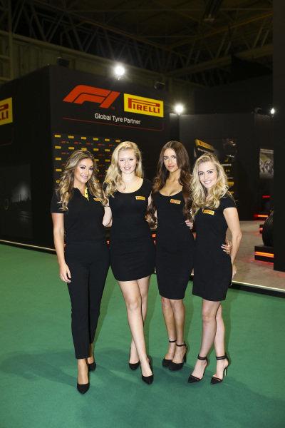 Pirelli promotional girls.