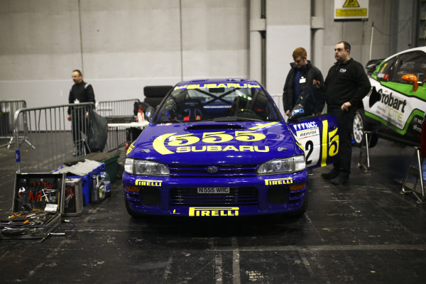 A 555 Subaru in the Live Action Arena paddock.