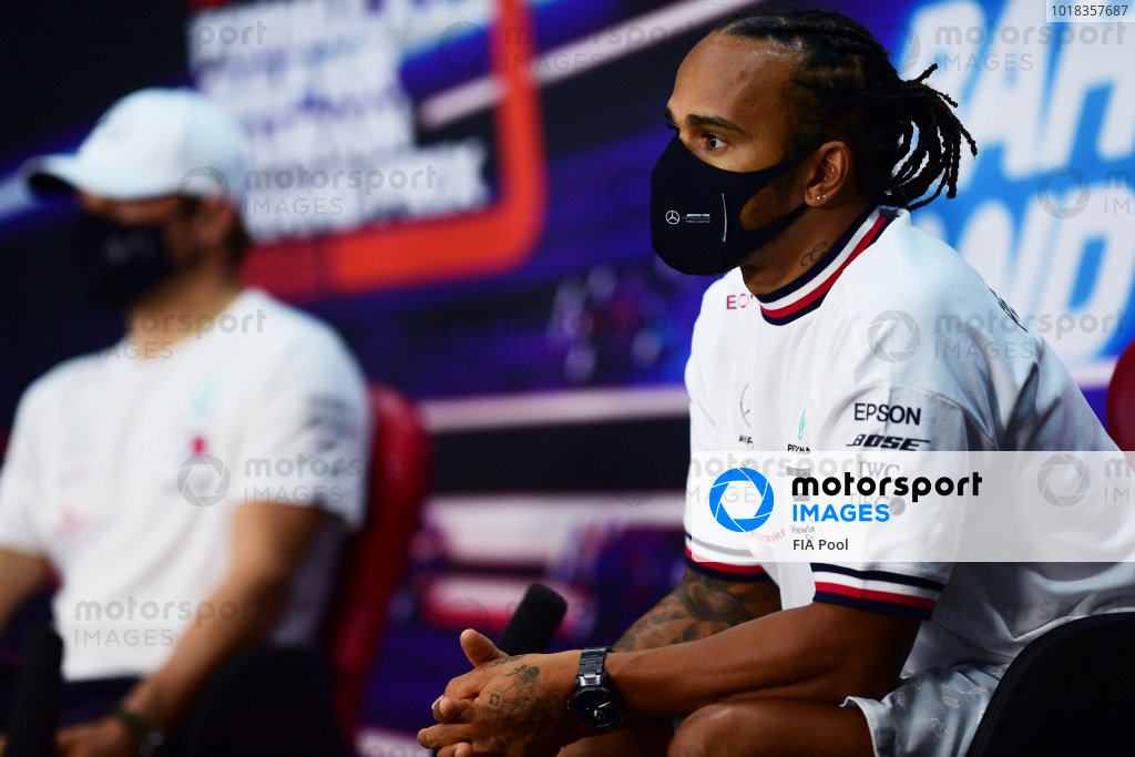 Lewis Hamilton, Mercedes-AMG Petronas F1 and Valtteri Bottas, Mercedes-AMG Petronas F1 in the press conference