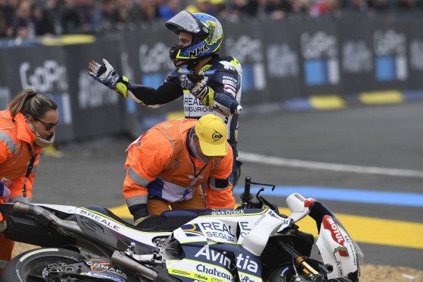 Karel Abraham, Avintia Racing after his crashes.