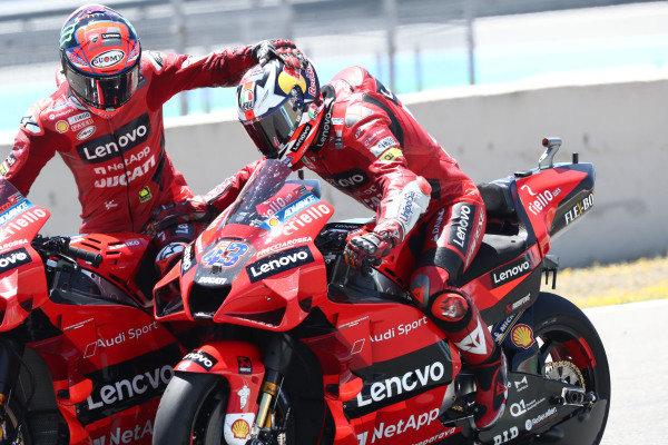 Jack Miller, Ducati Team, Francesco Bagnaia, Ducati Team.