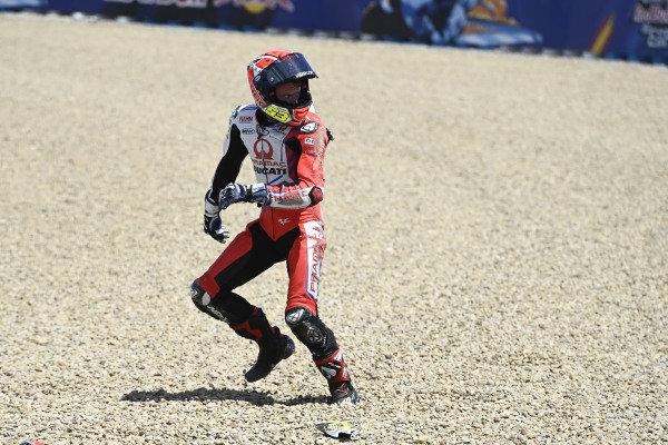 Crash of Tito Rabat, Pramac Racing.